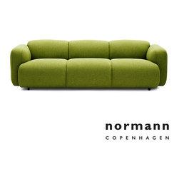Normann Copenhagen Swell Sofa 3-Seater Green - Normann Copenhagen Swell Sofa 3-Seater Green