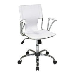 Elegant Office Chair, White -