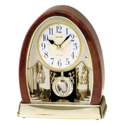 RHYTHM - Joyful Crystal Bells Musical Motion clock - Never has there ever been this much elegance in a table clock