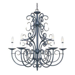 """Volume Lighting - Volume Lighting V2986 Bornholm 6 Light 8.25"""" Height 1 Tier Chandelier - Six Light 8.25"""" Height 1 Tier Chandelier from the Bornholm CollectionFlawless and fashionable, this 6 light chandelier features 1 tier and two stunning finishes.Features:"""