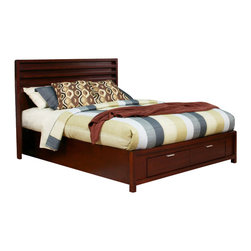 Alpine Furniture - Camarillo East King Platform Bed with Storage Footboard - Camarillo Eastern King Platform Bed with Storage Footboard