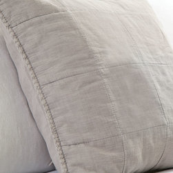"""Pom Pom at Home - European Sham 28""""Sq. - CREAM (EUROPEAN) - Pom Pom at HomeEuropean Sham 28""""Sq.DetailsCotton with large quilted pattern.Machine wash.Imported."""