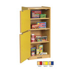 Ecr4kids - Ecr4Kids Colorful Essentials Home Kids Pretend Play Kitchen Refrigerator Set Red - A charming, laminate play refrigerator built to endure endless hours of play. rounded edges for safety and style, easy to reach shelves with plenty of room for storage of your favorite toy foods and dishes, and magnetic latches and full-length continuous piano hinges. Encourages dramatic play and social interaction in the classroom or home. Available in an easy-to-clean warm maple laminate and coordinating edgebanding with primary colored sides that match all items in the Colorful Essentials product line.