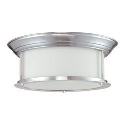 Z-Lite - Z-Lite Sonna Ceiling Light X-NB-61F2002 - This three light lamp, with a brushed nickel finish and matte opal glass rests against the Ceiling Light and is a perfect fit in a modern home.