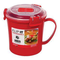 Sistema Klip It Microwave Soup Mug - The Sistema Klip It Microwave Soup Mug is perfect for soup and hot drinks on the go! Ideas don't come any hotter than this!Product Features                      Capacity - 656ml  22.1 oz           Microwave safe with top vent open          Dishwasher safe - top rack          Freezer safe
