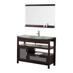 "Design Element - Design Element DEC025 Naples 43"" Single Sink Vanity Set in Cherry - Design Element DEC025 Naples 43"" Single Sink Vanity Set in Cherry"