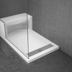 modern bathroom vanities and sink consoles Alessa shower base