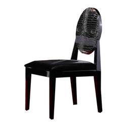 VIG Furniture - A&X Modern Lacquer Chair - This beautiful accented laqcuer dining chair is a spectacular addition to a modern home, fit for a party or a family dinner.  Stands luxuriously on its own as you will feel sitting in this excellent addition to your dining room.