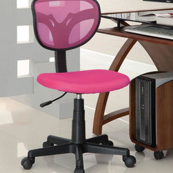 Coaster - Pink Casual Office Chair - Mesh styled task chairs in multiple colors with a gas lift and black finished base.
