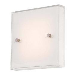 minka - Framework LED Wall Sconce by George Kovacs P1141-084-L - Finish: Brushed Nickel
