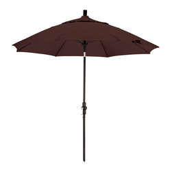 California Umbrella - 9 Foot Olefin Fabric Crank Lift Tilting Aluminum Patio Umbrella with Black Pole - California Umbrella, Inc. has been producing high quality patio umbrellas and frames for over 50-years. The California Umbrella trademark is immediately recognized for its standard in engineering and innovation among all brands in the United States. As a leader in the industry, they strive to provide you with products and service that will satisfy even the most demanding consumers.