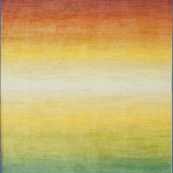 "Loloi Rugs - Loloi Rugs Lyon Collection - Rainbow, 3'-9"" x 5'-2"" - If you enjoy admiring artwork on the wall, you may want to consider the Lyon Collection as as painterly masterpiece for your floor. From Egypt, these contemporary rugs have been inspired by Western European and South American watercolor paintings. And because they're power loomed of 100% polypropylene, a durable and stain resistant fiber, the colors will remain vibrant for years ahead."