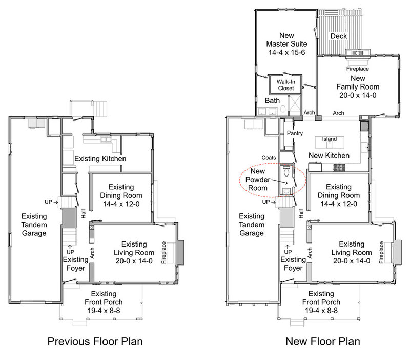 Traditional Floor Plan by Steven Corley Randel Architect