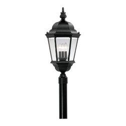 "Designer Fountain - Builder Cast Aluminum 13"" Post Lantern - 13 inches cast post lantern"