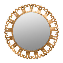 Dessau Home - Dessau Home Antique Gold Curl Edge Mirror -
