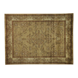 """Oriental Rug Galaxy - 7'10"""" x 10'5"""" New Zealand Wool Taupe Sarouk Oriental Rug Hand Knotted 300 kpsi - Our fine Oriental hand knotted rug collection consists of 100% genuine, hand-knotted and hand-woven rugs from Persia, China, and other areas throughout Asia. Classic, traditional, and offered in a wide range of elaborate designs, every handmade rug is guaranteed to serve as a beautiful and striking element in any interior setting."""