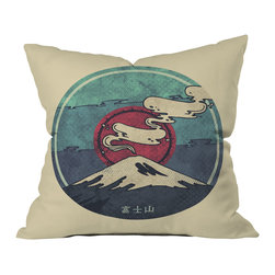 DENY Designs - DENY Designs Hector Mansilla Fuji Throw Pillow - Wanna transform a serious room into a fun, inviting space? Looking to complete a room full of solids with a unique print? Need to add a pop of color to your dull, lackluster space? Accomplish all of the above with one simple, yet powerful home accessory we like to call the DENY throw pillow collection! Custom printed in the USA for every order.