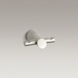 KOHLER - KOHLER Toobi(TM) double robe hook - Toobi faucets and accessories feature an organic design inspired by the peaceful, balanced beauty of Asian gardens. This double robe hook makes a sleek finishing touch for your bathroom decor.