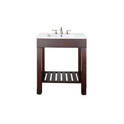 Avanity Loft 30 In. Vanity - The Loft Collection is a sleek clean design that offers extra counter space in a dark walnut finish over birch solid wood and veneers.