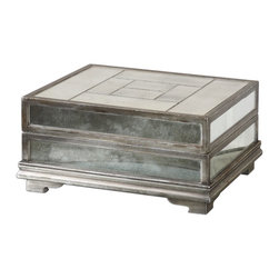 Uttermost - Antique Silver Leaf Trory Box - Antique Silver Leaf Trory Box