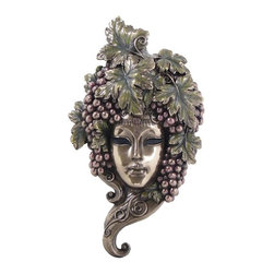 US - 11.75 Inch Grapes on Elaborate Bronzehued Mask Wall Plaque Decor Gift - This gorgeous 11.75 Inch Grapes on Elaborate Bronzehued Mask Wall Plaque Decor Gift has the finest details and highest quality you will find anywhere! 11.75 Inch Grapes on Elaborate Bronzehued Mask Wall Plaque Decor Gift is truly remarkable.