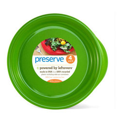 """Preserve - Preserve Everyday 9.5"""" Plates  Apple Green , 4 pack - When you're working to reduce the size of your eco footprint, all of the items that you use in your kitchen matter. Your choice of Dinnerware has a profound impact on the planet, as many everyday dishes are made out of materials are less than green."""