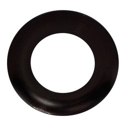 Oil Rubbed Bronze Vessel Mounting Ring - This mounting ring is designed for giving your glass vessel sink an ultimate finish, setting it off of the countertop and completing the look of your final installation. Mounting rings are only compatible with round shaped sinks with flat bottoms. Removable rubber pieces are included for the top and bottom of the ring.