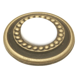 Hickory Hardware - Hickory Hardware 1-1/4 In. Cavalier White Cabinet Knob - Classic lines, finishes and styles create a warm and comforting feel.  Usually 18th-century English, 19th-century neoclassic, French country and British Colonial revival.  Use of classic styling and symmetry creates a calm orderly look.