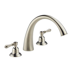 Brizo - Brizo 6720-BNLHP Providence Classic Brushed Nickel Roman Tub Trim - The Brizo 6720-BNLHP is a roman tub trim and rough-in valve without handles from Brizo's providence classic design suite featuring a classic and simple style, and comes in a brushed nickel finish.