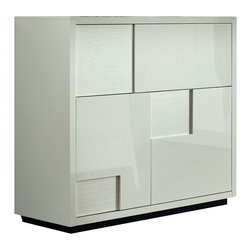Rossetto - Nightfly Bar Buffet in White - Features: