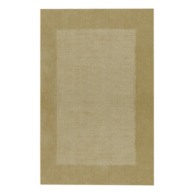 Riverdale rug in Maize - These sturdy, hand loomed area rugs are woven of 100% pure wool and sheared by hand for a smooth - yet durable - surface.  The cut pile border and textured field make a quiet decorative statement, and the array of available color choices help them fit easily into any decor.