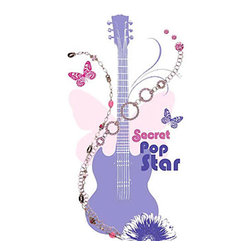 Blue Mountain Wallcoverings - Disney Hannah Montana Large Wall Accent Sticker Set - FEATURES: