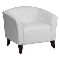 Flash Furniture - Hercules Imperial Series White Leather Chair - Make an impression with your clients and customers with this attractive leather reception chair. Reception Chairs are perfect for the office and waiting room seating. Not only will this chair fit in a professional environment, but will add a chic look to your living room space. The contemporary design of this chair will fit in a multitude of environments with its streamlined stitching and curved elevated hardwood feet.