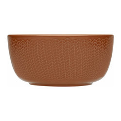 Iittala - Sarjaton Bowl Letti - Red Clay - Bring an earthy yet elegant touch to your table. This beautiful porcelain bowl, imported from Finland, has a simply stylish pattern and a generous shape that suggests the deliciousness within.