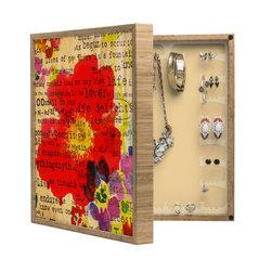 DENY Designs - Irena Orlov Poppy Poetry 2 BlingBox Petite - Handcrafted from 100% sustainable, eco-friendly flat grain Amber Bamboo, DENY Designs BlingBox Petite measures approximately 15 x 15 x 3 and has an exterior matte cover showcasing the artwork of your choice, with a coordinating matte color on the interior. Additionally, the BlingBox Petite includes interior built-in clear, acrylic hooks that hold over 120 pieces of jewelry! Doubling as both art and an organized hanging jewelry box, It's bound to be the most functional (and most talked about) piece of wall art in your home! Custom made in the USA for every order.