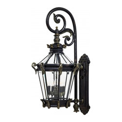 Minka-Lavery - Minka-Lavery Stratford Hall 5-Light Outdoor Wall Mount - 8933-95 - This 5-Light Wall Lantern is part of the Stratford Hall Collection.
