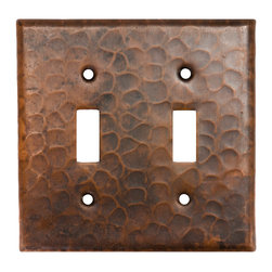 Premier Copper Products - Copper Switchplate Double Toggle Switch Cover - Copper Switchplate Double Toggle Switch Cover