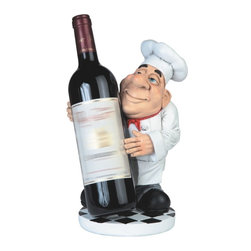 GSC - 11 Inch Chef in White Uniform Figurine with Wine Bottle Holder - This gorgeous 11 Inch Chef in White Uniform Figurine with Wine Bottle Holder has the finest details and highest quality you will find anywhere! 11 Inch Chef in White Uniform Figurine with Wine Bottle Holder is truly remarkable.