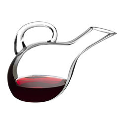Frieling - Elegance Wine Decanter - This lovely wine decanter allows you to add a stylish silhouette to your table setting. Pouring becomes an experience too: Hold the beautiful handle and watch as the aerated wine glides out of the slanted spout.