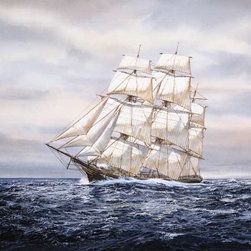 Murals Your Way - Clipper Ship Wall Art - Painted by Jack Wemp, Clipper Ship wall mural from Murals Your Way will add a distinctive touch to any room