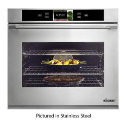 "Dacor - DYO130FS Discovery iQ 30"" Single Electric Wall Oven with 4.8 cu. ft. Convection - With another industry first Dacors Discovery iQ Wall Oven blends technology and performance to deliver a unique cooking experience The integrated and intuitive Android interface provides home chefs with access to the proprietary Dacor iQ Cooking App ..."