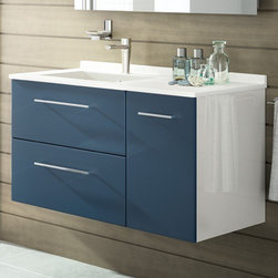 Ambiance Bain - Ambiance Bain | Strada Small Vanity - Made in France by Ambiance Bain.The Strada Small Vanity offers the perfect blend of modern aesthetics with pure functionality. This all-inclusive vanity comes in a variety of different configurations, ensuring the perfect fit for all bathrooms. Available with ample drawers and storage space, this modern bathroom vanity will upgrade master bathrooms with elegance and reliability. Select the color and style to suite your bathroom needs. Also available in medium and large versions.Product Features:
