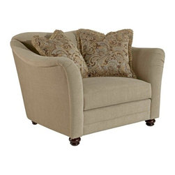 Broyhill - Debra Contemporary Style Flair Tapered Arms Chair - 3485-0 - Classic turned feet