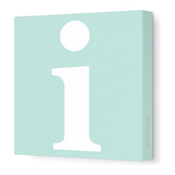 "Avalisa - Letter - Lower Case 'i' Stretched Wall Art, 28"" x 28"", Sea Green - Spell it out loud. These lowercase letters on stretched canvas would look wonderful in a nursery touting your little one's name, but don't stop there; they could work most anywhere in the home you'd like to add some playful text to the walls. Mix and match colors for a truly fun feel or stick to one color for a more uniform look."