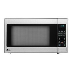 LG - LG 2-cubic-foot Stainless Steel True Cook Plus Countertop Microwave Oven - This countertop microwave oven from LG features a curved interior design that maximizes the size of the 16-inch turntable to accommodate large,round cookware. This appliance offers a stainless steel finish with TrueCook Plus.