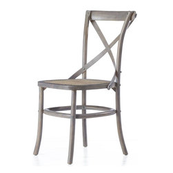 Hamilton Bentwood Chair, Antique Gray - I love this classic farmhouse-style chair in worn gray. The rounded back makes it comfortable and easy to use at the same time.