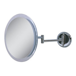 Zadro Products - Zadro 5X Chrome Wall Mirror - Z9W5 - Shop for Bathroom Mirrors from Hayneedle.com! Mounted on a lightweight and sturdy acrylic body the Zadro 5X Chrome Wall Mirror gives you the ability to have a 180-degree adjustable mirror anywhere in your home. This chrome-finished fixture will place the 9-inch mirror anywhere from 9 to 15 inches from the wall with a 5X magnification for maximum clarity.About Zadro ProductsZadro Products has been a leading innovator in bath accessories mirrors cosmetic accessories and health products for over 25 years. Among the company's innovations are the first fogless mirror first variable magnification mirror first surround light mirror and more. Not a company to rest on its laurels Zadro continues to adapt to the ever-changing needs of modern life.