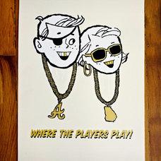 Where the Players Play Print   Art Prints   Knifemen   Scoutmob Shoppe   Product
