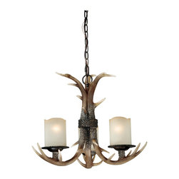 Vaxcel - Vaxcel H0013 Yoho 3L Chandelier - Vaxcel Lighting H0013 Yoho 3 Light Chandelier This product from Vaxcel Lighting has a black walnut finish. Features crme cognac glass. For use with three