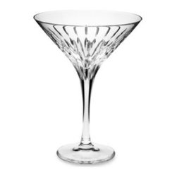Mikasa - Mikasa Arctic Lights Modern 10-Ounce Crystal Martini Glass - Mysterious as the northern night skies, and every bit as beautiful. A statement of elegance, this hand-cut lead crystal reaches upwards with reflected light.